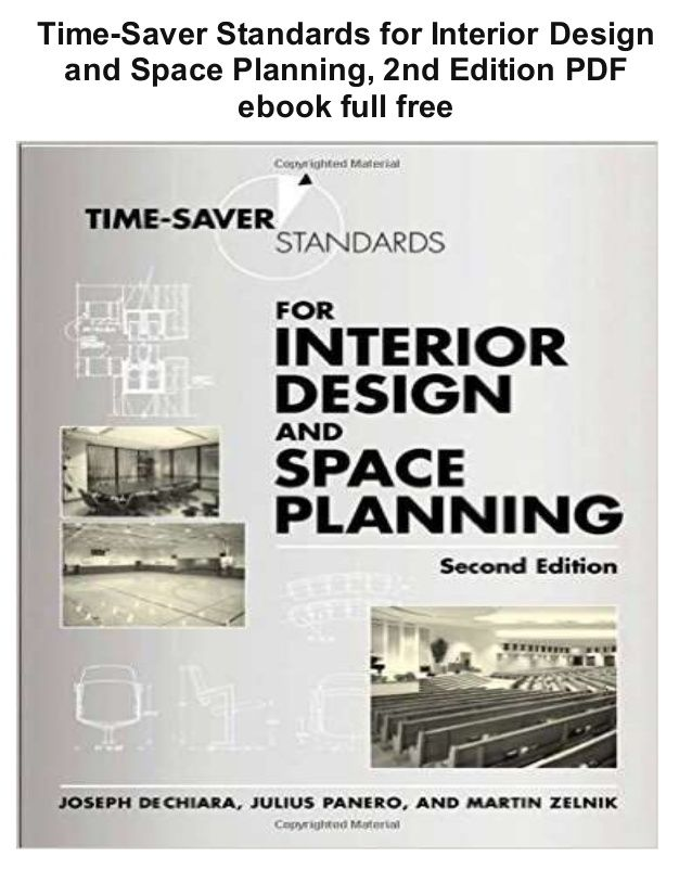 Time Saver Standards For Interior Design And Space Planning 2nd