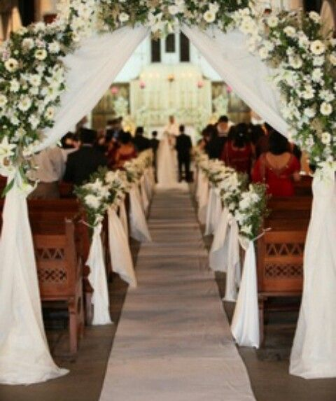Catholic church wedding wedding pinterest church - Decoracion unas para boda ...