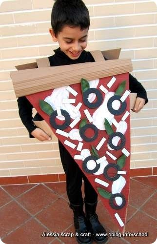 #costume di carnevale fai da te: fetta di pizza
