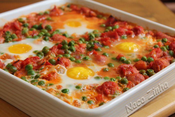 Ovos à flamenca (huevos a la flamenca)
