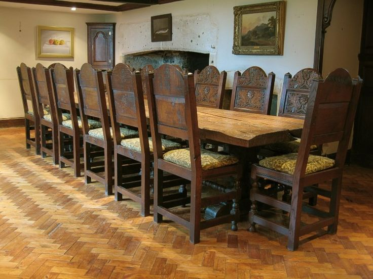 Gothic dining table   chairs   house   Pinterest   House. Antique Pine Dining Room Chairs. Home Design Ideas