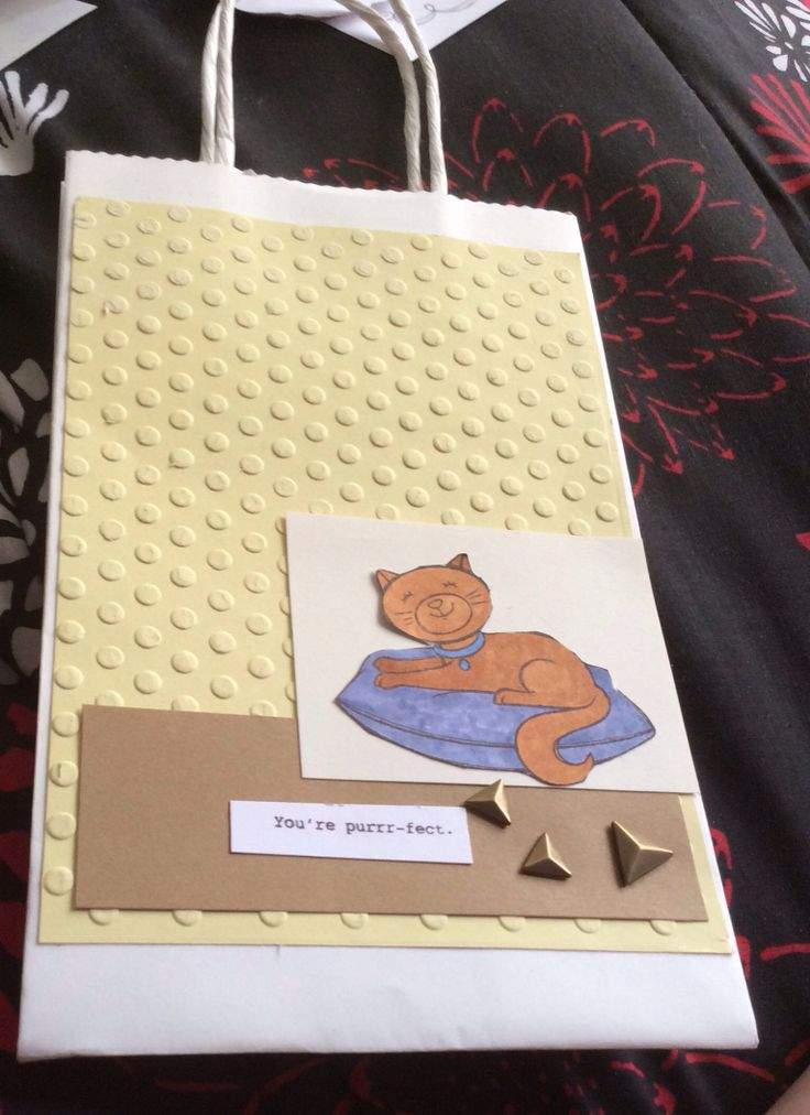 I used the new CTMH Embossing Folders (DOT), the A Cozy Cat Stamp Set, CTMH Markers, and Durables.