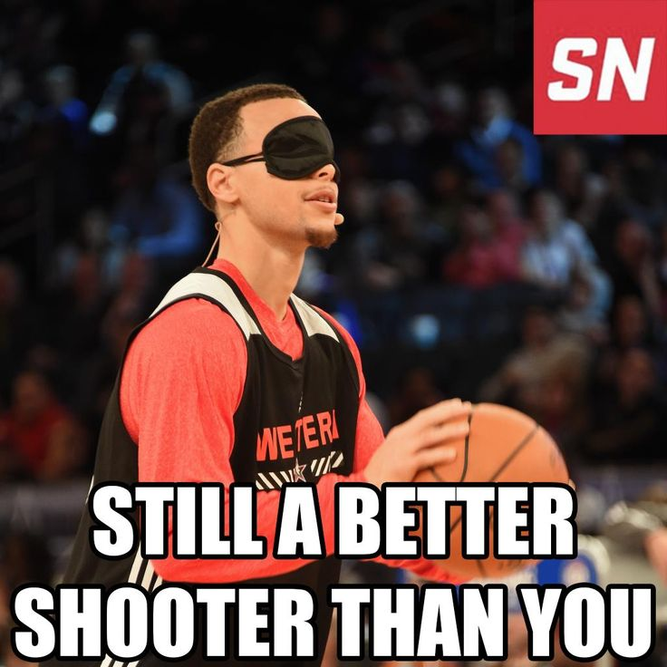 Before the 3-point contest starts, Steph Curry would like to remind you...