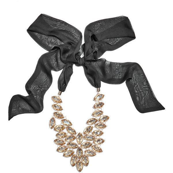 GUESS by Marciano Venus Statement Necklace ($78) ❤ liked on Polyvore featuring jewelry, necklaces, polish jewelry, guess by marciano, bib statement necklace, tie necklace and jewel necklace
