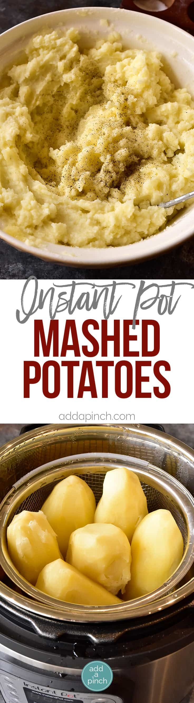 Instant Pot Mashed Potatoes - The Instant Pot pressure cooker makes for quick and easy, perfect mashed potatoes every time! // addapinch.com