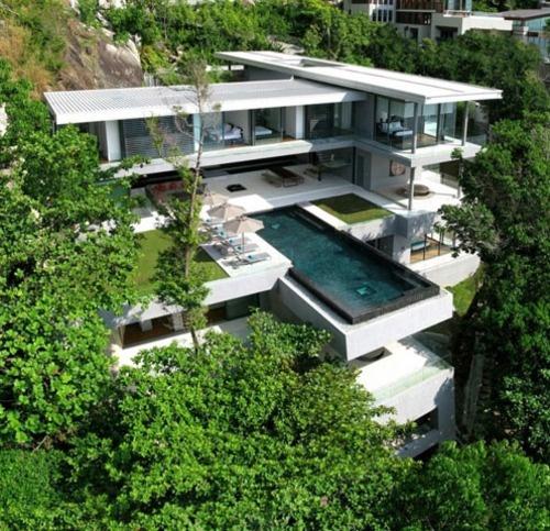 Wow. Amazing house: Dreams Houses, Dreams Home, Luxury Villas, Phuket Thailand, West Coast, Modern Houses, Modern Home, Pools, Dreamhous