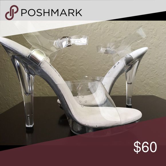 Clear Competition Heels Ultra comfortable competition heels that can also be worn as pole dancing heels or just on a night out dancing! Never worn and still new in box Shoes Heels