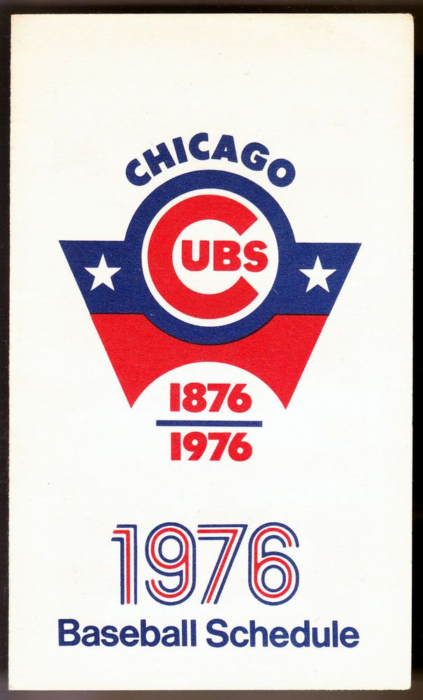 1976 CHICAGO CUBS OLD STYLE BEER 3 X 5 INCH BASEBALL SCHEDULE FREE SHIPPING