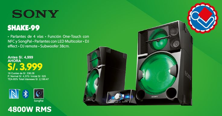 El sonido claro y potente será el alma de tu fiesta: la SHAKE-99 tiene un diseño de parlante de 4 vías para un sonido explosivo de 4800W RMS.