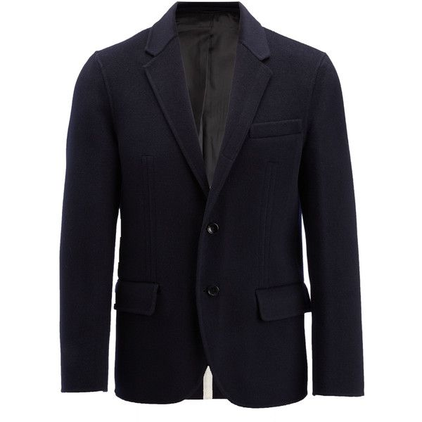 Joseph Double Face Cashmere Mells Jacket ($1,095) ❤ liked on Polyvore featuring men's fashion, men's clothing, men's outerwear, men's jackets, military, men's sherpa lined jacket, mens navy blue jacket, mens cashmere jacket, mens military style jacket and mens reversible jacket