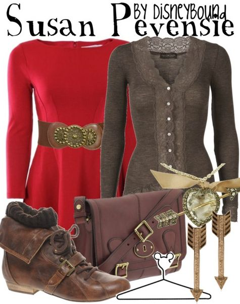 "Click through for [currently] 3 tags ""Chronicles of Narnia"" on the DisneyBound fashion blog -- includes outfits inspired by Susan Pevensie and The White Witch."
