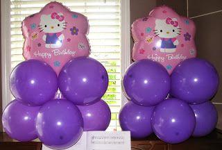 Hello Kitty Balloon Centerpieces
