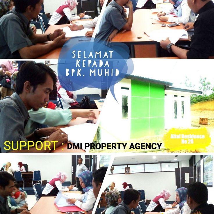 Selamat kepada Bapak Muhid sudah akad kredit di BTN Bengkulu. Semoga lebih baik rejekinya dan betah menempati rumah barunya