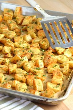An easy to make recipe for Spicy Lebanese-Style Potatoes - Batata Harra. These spiced potatoes are a flavorful appetizer, side dish, or party snack.