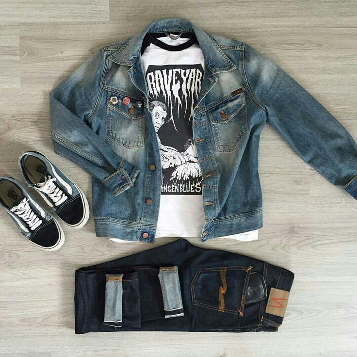Outfit grid - Denim jacket & jeans