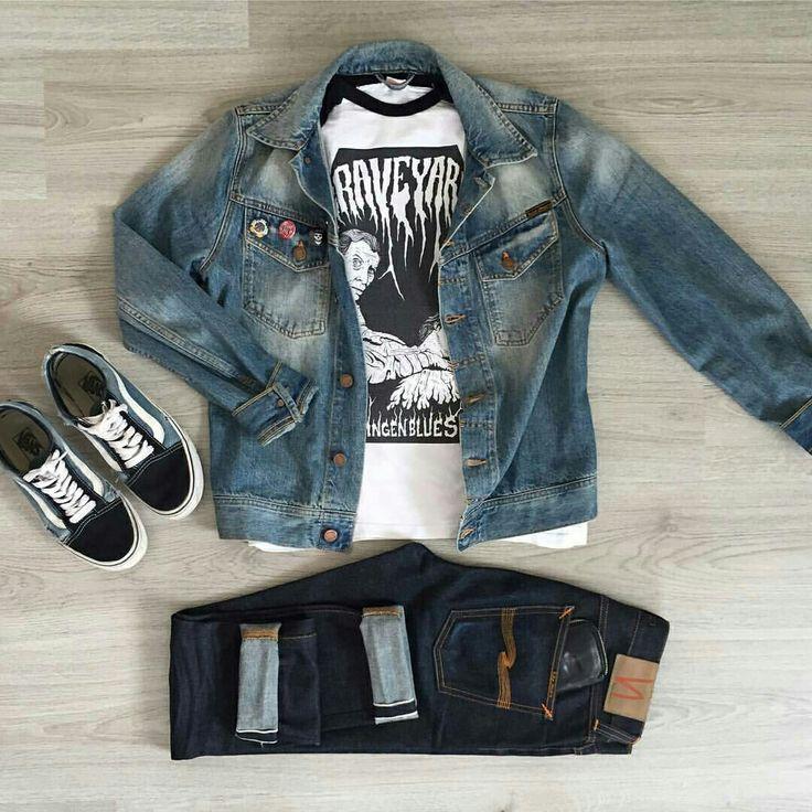 Outfit grid - Denim jacket & jeans