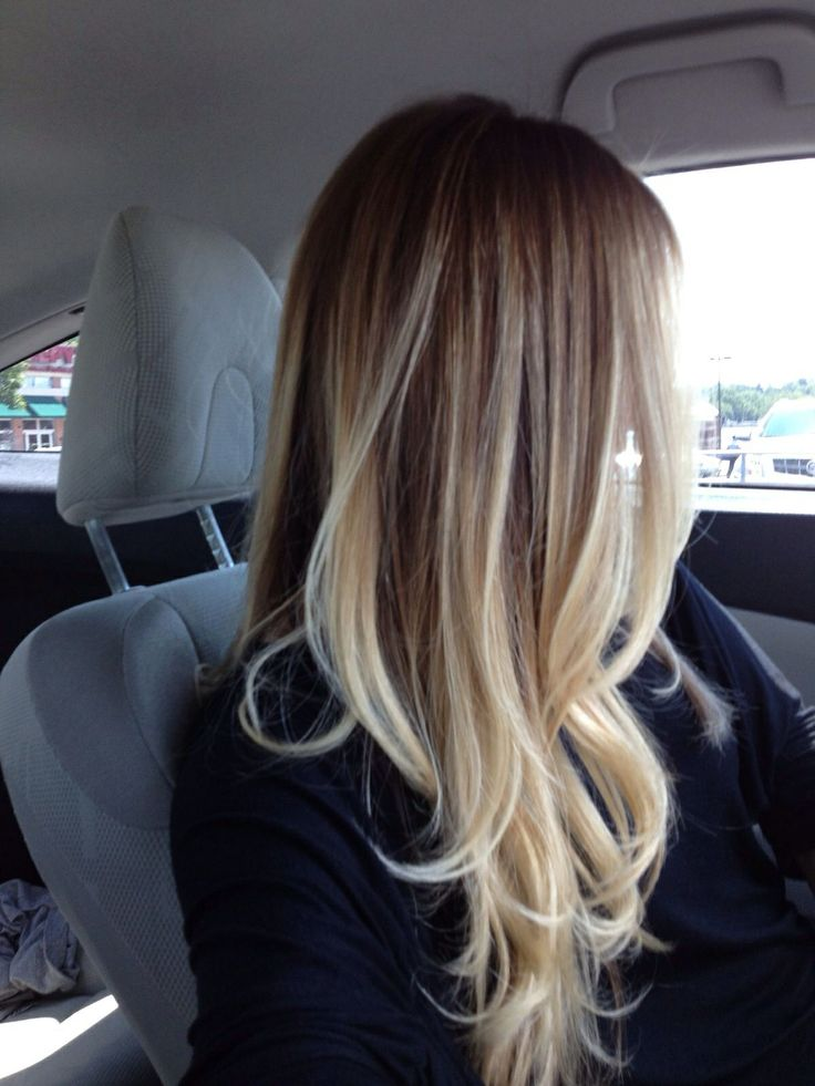 Ombre hair color for those of us with light colored hair!