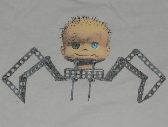 Vtg 90s Stanley Desantis Toy Story Spider Baby Face T