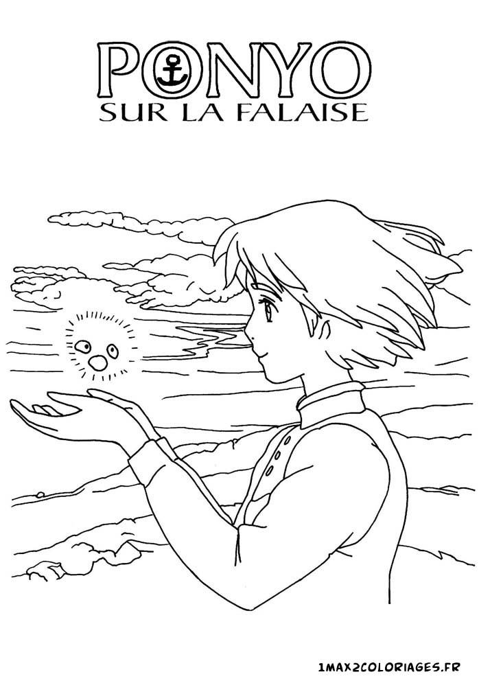 10 best ponyo images on pinterest hayao miyazaki for Ponyo coloring pages to print