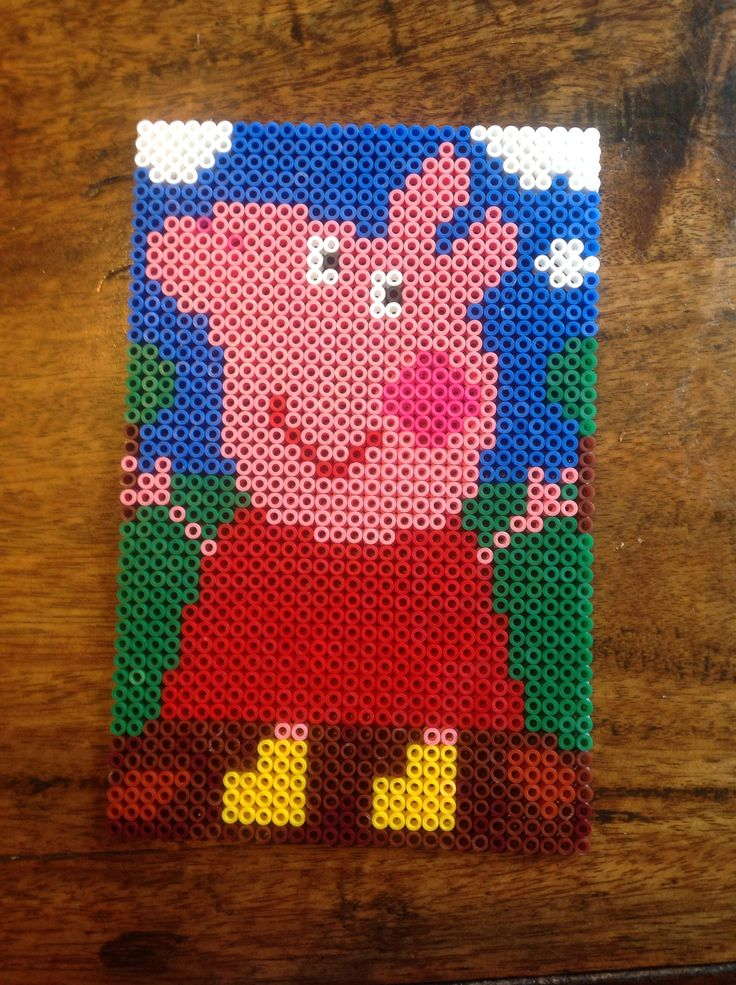 26 best peppa pig images on pinterest hama beads pearler bead patterns and perler beads - Fusee peppa pig ...