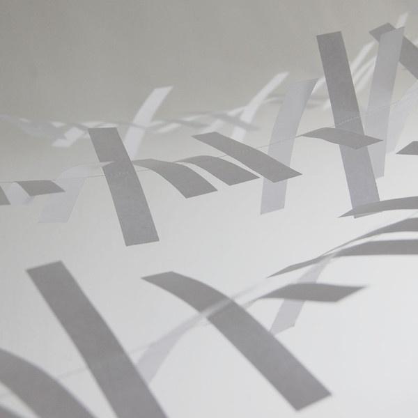 White Boxed Paper Tinsel — Polar