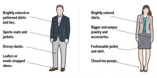 Smart casual graphic