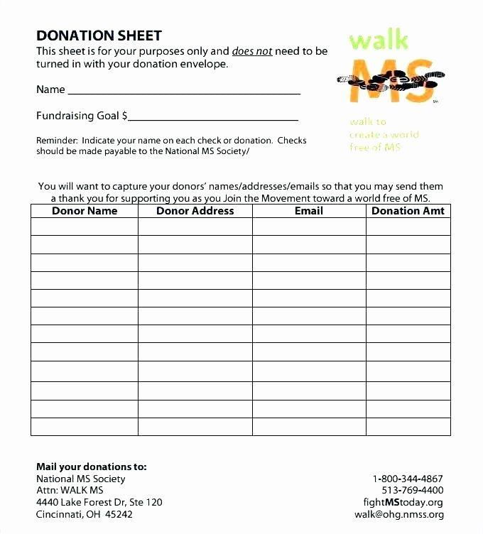 donor pledge form template luxury donation pledge card