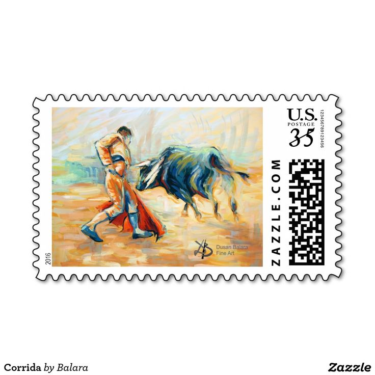Corrida Postage Stamp