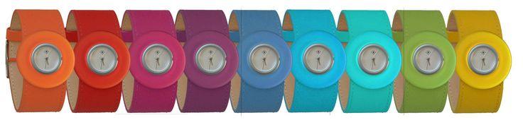 Deja Vu- die Sport-Uhr. Bei dieser Uhr lassen sich nur die Bänder wechseln. Angenehm auf der Haut, in 15 tollen Farben