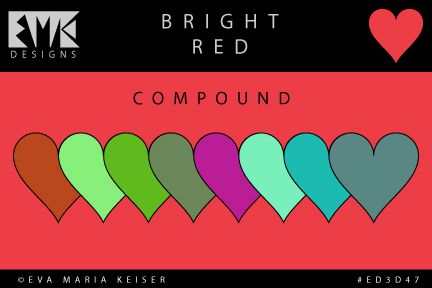 "Eva Maria Keiser Designs: Explore Color: ""Bright Red"" - Compound"