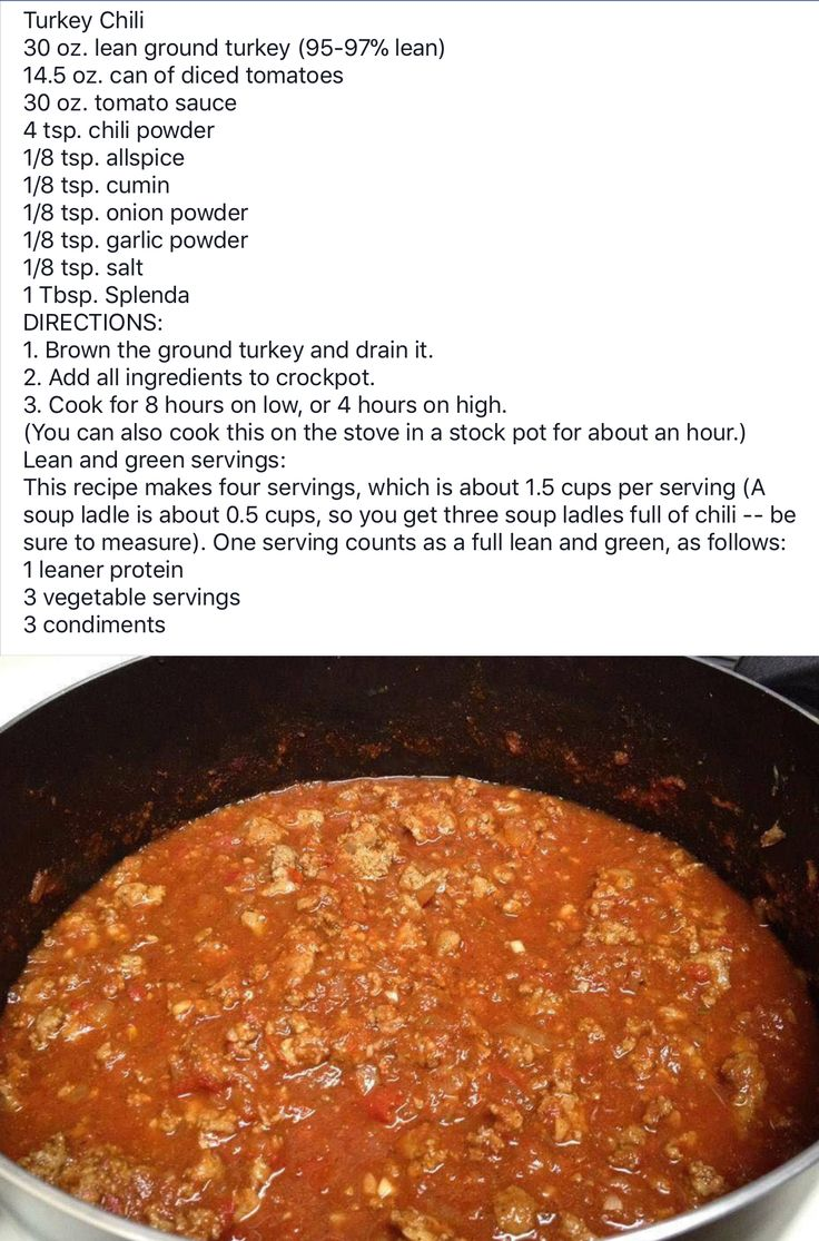 Turkey Chili Lean Protein Meals Medifast Recipes Lean Meals