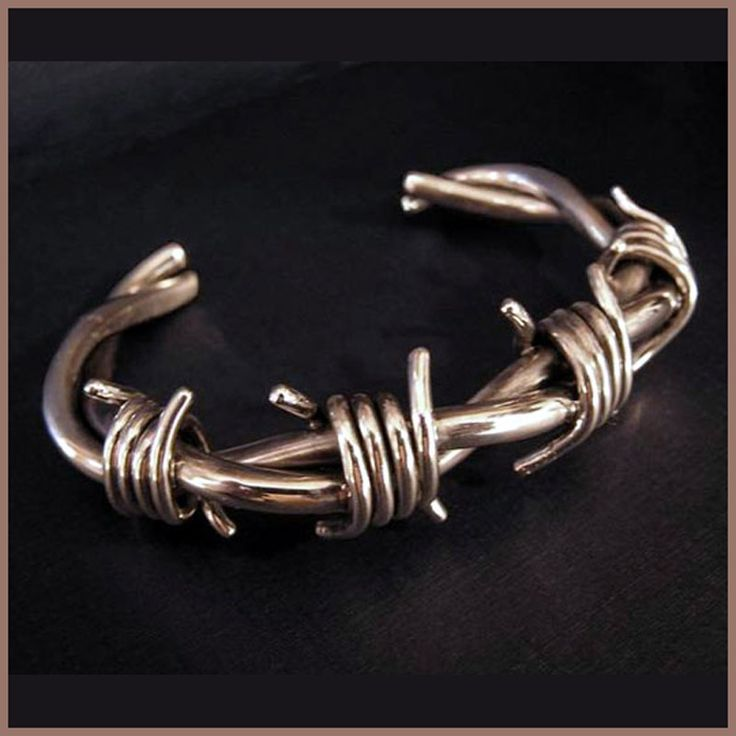 Can't get enough barbwire, especially when it is sterling silver. via johnglossa.com