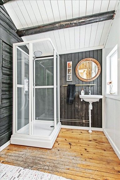 Bathrom idea for my cabin in the same area.