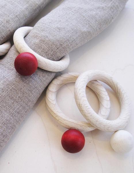 Aarikka Pouta napkin rings: Pouta napkin rings