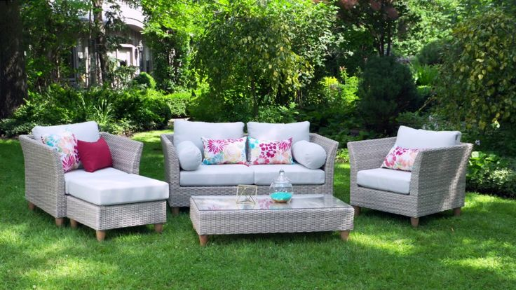 105 best images about meubles de jardin garden furniture on pinterest coins capri and - Meuble de jardin rotin synthetique ...