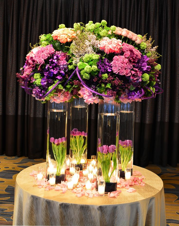 An arrangement for a Bat Mitzvah at the Beverly Wilshire Hotel.