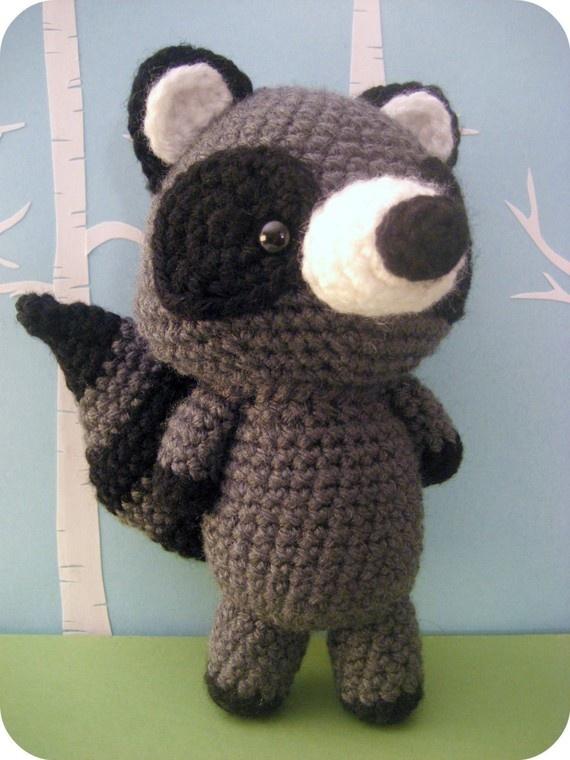 """""""Raccoon Crochet Amigurumi Pattern - in Forrest Friends Pattern Set"""" #Amigurumi  #crochet"""