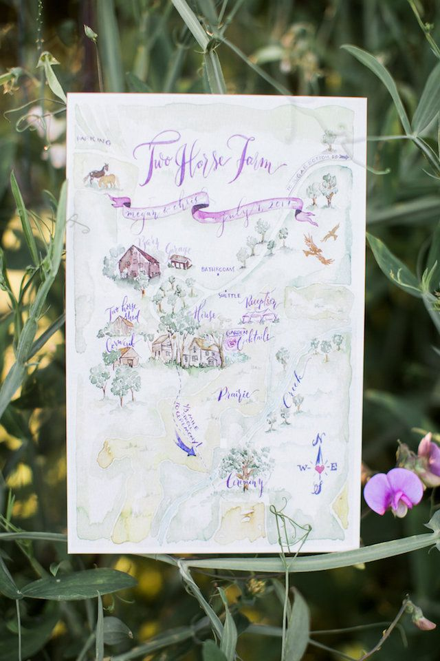 wedding invitations map%0A Elegant Farm Wedding in Iowa Photographed by Andrea Boller