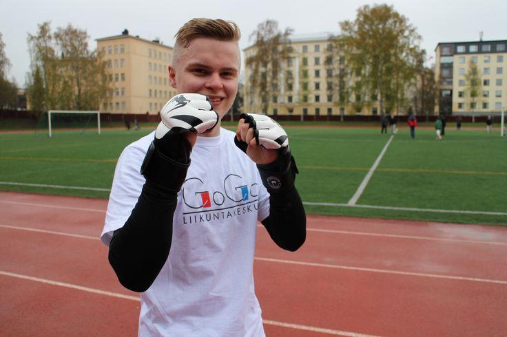 Karo Nyman Liikuntakeskus Gogo:sta astui hienosti boksista ulos ja veti urheasti uransa ensimmäisen ulkoilmatreenin. Lajina Body Combat.