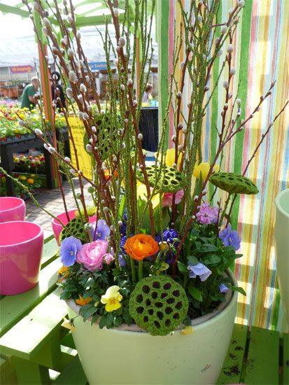 Garden Ideas For Spring 164 best spring containers images on pinterest | easter crafts