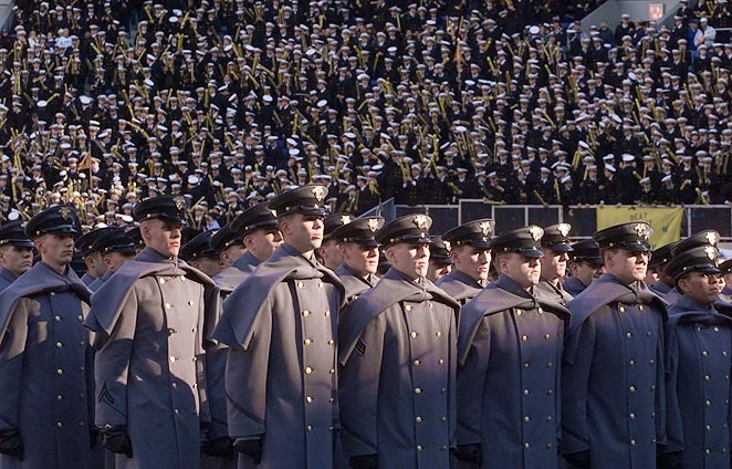 The 2001 ArmyNavy game drew 69,708 fans to Veterans