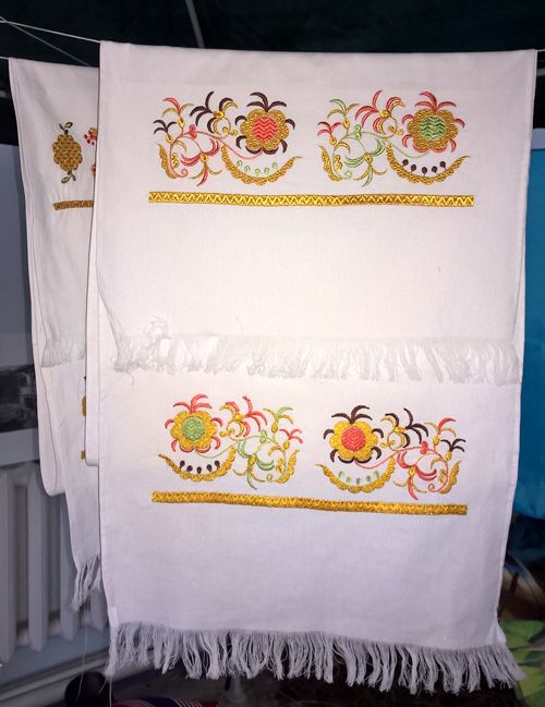 Modern embroidered towel of Crimean Tatars