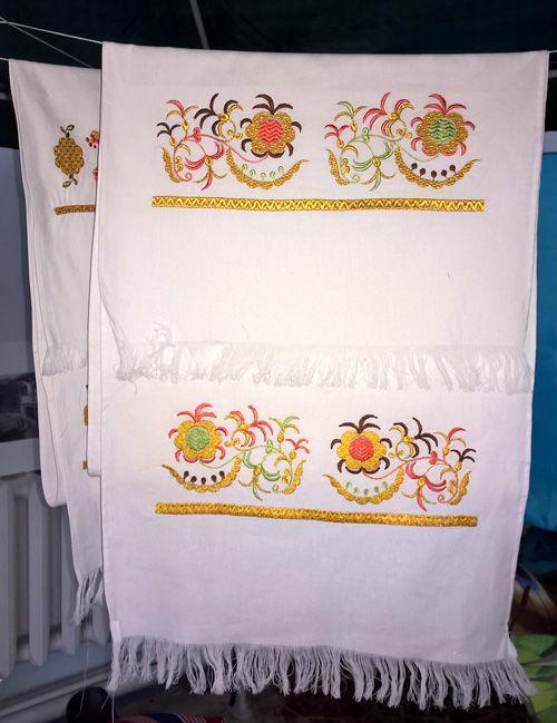 Modern embroidered towel of Crimean Tatars