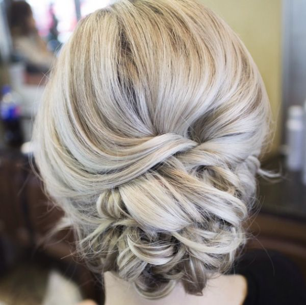 low updo twisted