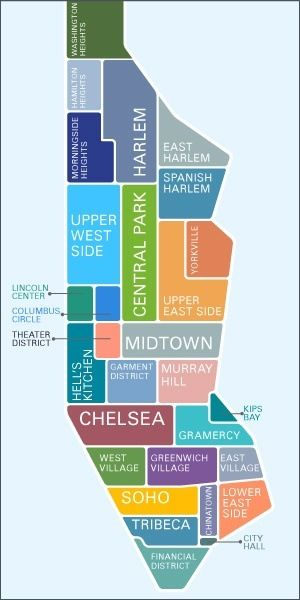New York map-potential future home!!!