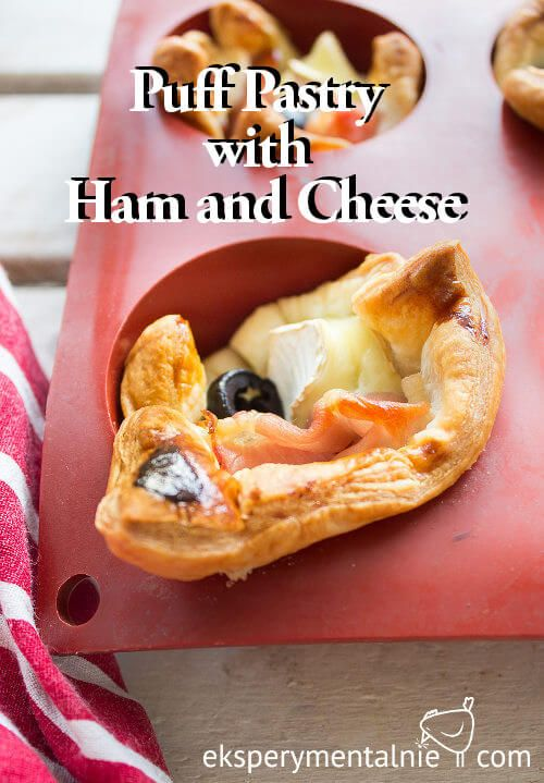 Puff Pastry with Ham and Cheese - Przekąski sylwestrowe – ciasto francuskie z serem i szynką