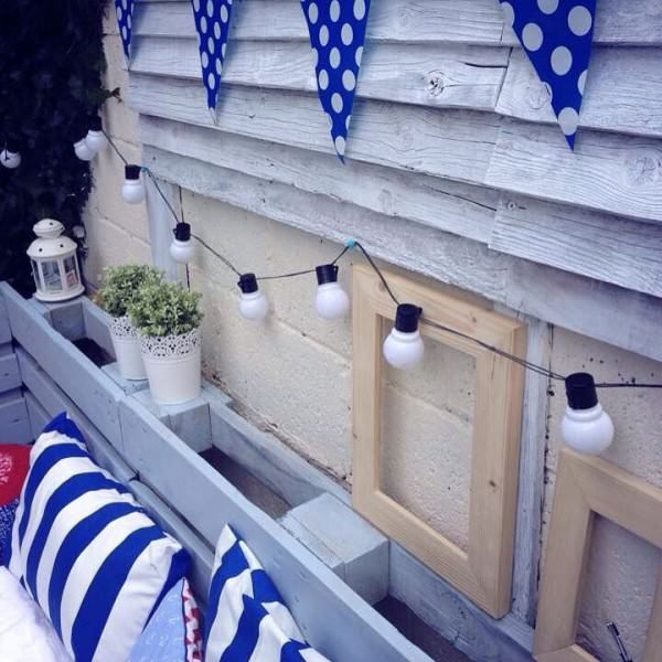 Pallet Garden Nautical Furniture Set And Sign Lounges