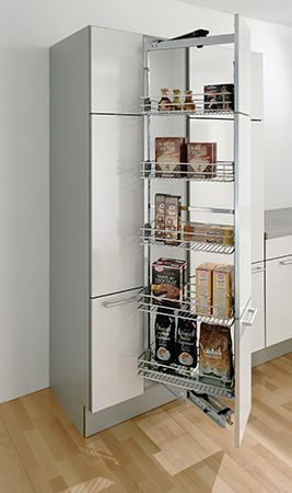 Stabilizing of the front by front strips and 3d front for Tall corner kitchen unit