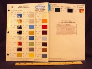 Amazon.com: 1980 80 DATSUN / NISSAN 200SX, 280ZX, 310, 510, 720, 810, & Truck Paint Colors Chip Page: Nissan Motor Company LTD: Books