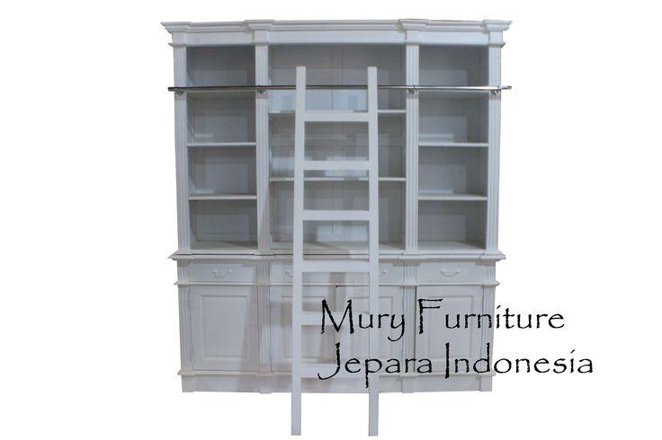 #Beautiful Bookcase #French Furniture #White Furnitue